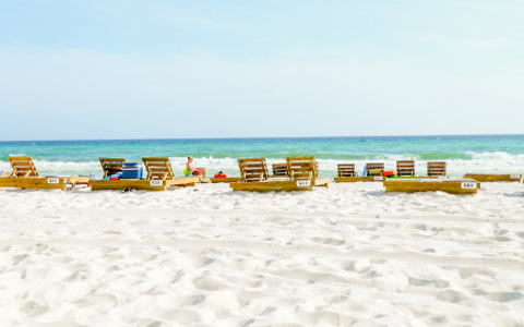 Panama City Beach Sand Sea Sky Deck Chairs