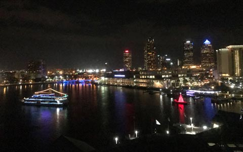 Tampa Downtown at night